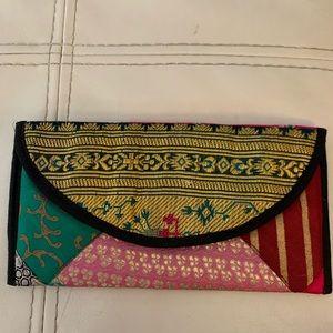Hippie boho patchwork wallet